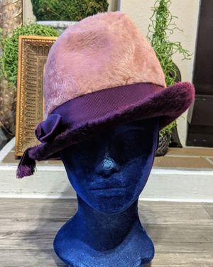 Vintage Fedora Fuzzy Hat Pink & Purple. for Sale in Phoenix, AZ