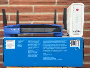 ARRIS SB 6183 MODEM & LINKSYS WRT 1900 AC for Sale in Federal Way, WA