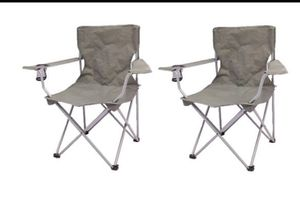 Ozark Trail Chair 2 Pack Gray Color A6-169 for Sale in St. Louis, MO