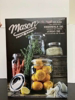 3Pcs Glass Canester Set Juego de Recipiente de Vidrio Masón Craft & More for Sale in Miami, FL