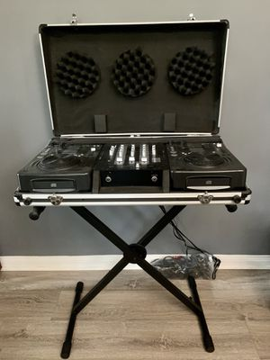 Like New American Audio DJ Equipment Set with Stand for Sale in Los Angeles, CA