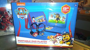 Portable Paw Patrol DVD player includes 2headphones and carrying case for Sale in Nashville, TN