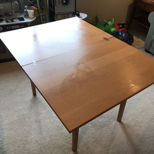 IKEA Dining Table With End Table for Sale in Maple Valley, WA