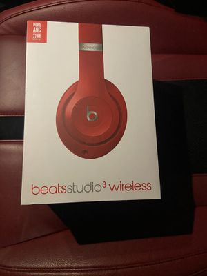 Red Beats Studio3 Wireless Over-Ear Noise Canceling Headphones for Sale in Brooklyn, NY