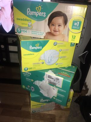 Pampers Size 4 and 5 (HUGE VALUE BOXES) for Sale in Baltimore, MD