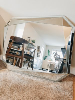 West elm faceted mirror - emerald cut for Sale in Kirkland, WA