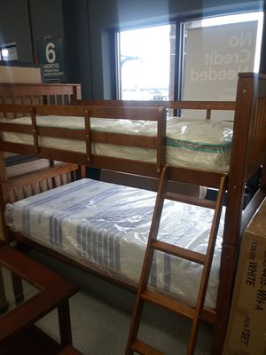 Twin bunk bed frame mattress not included for Sale in Grove City, OH