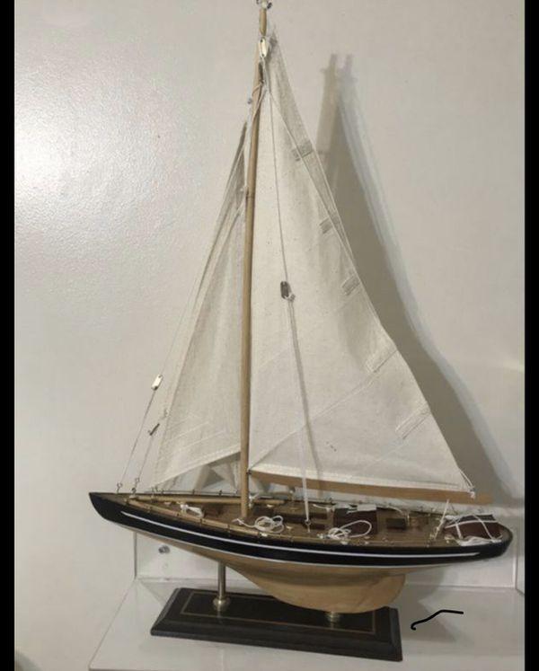 Nautical sailboat 24 inches tall