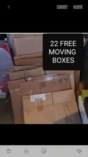 FREE - 22 MOVING BOXES - ALL SIZES- for Sale in Center Valley, PA