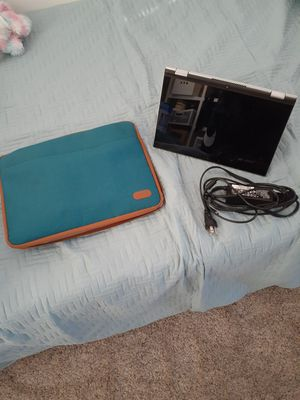 Almost new Dell 465GB touchscreen 2 in 1 laptop. Comes with new case and charger for Sale in Aurora, CO