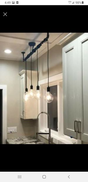 5 Pendant Light - Wrap a pipe or bar modern chandelier for Sale in Merrillville, IN
