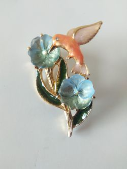 Humming bird enamel and rhinestones brooch for Sale in Parker,  CO