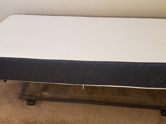 Twin Mattress and Frame and 4 twin bed covers for Sale in Lakewood,  WA