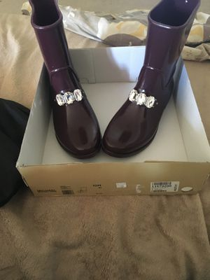 Michael Kors plum rain boots for Sale in Dover, DE