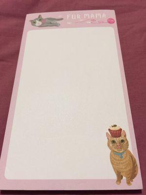 """New Cute Cat Memo Pad """"Fur Mama"""" $1.00 for Sale in Kent, WA"""