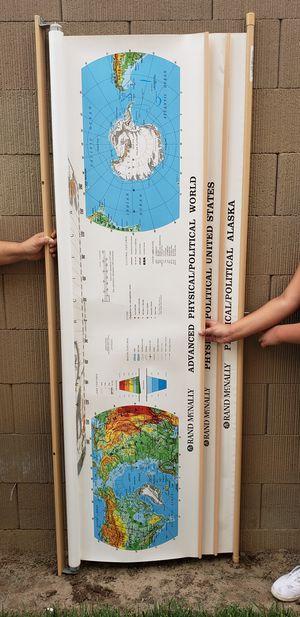 RAND McNALLY USA, WORLD AND ALASKA MAP for Sale in Modesto, CA