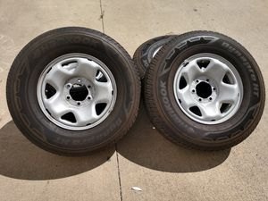 """2018 Tacoma OEM 16"""" wheels and tires 6x139.7 for Sale in Ontario, CA"""