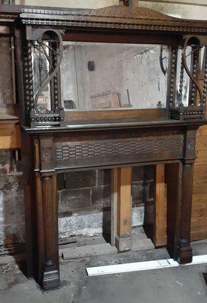 Classic Fireplace/Mantel Walnut Finish for Sale in Washington, DC