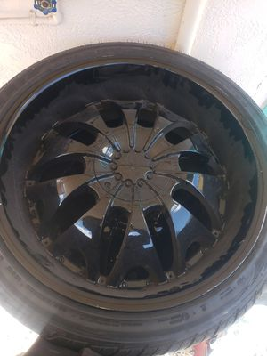 22 inch rims black for Sale in Miami, FL