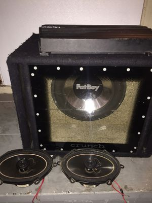 12 inch sub, amp, rear speakers for Sale in Auburndale, FL