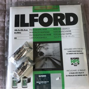 Ilford MGIV Multifrade RC Deluxe Photograph Paper With HP5 Plus 400 Film Brand New for Sale in Culver City, CA