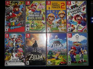 Nintendo Switch Games Accessories Cases + More for Sale in Santa Ana, CA