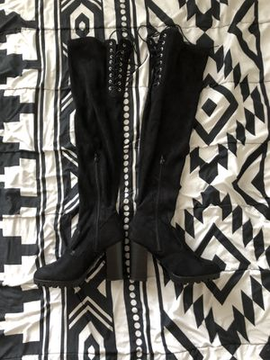 Size 7 Thigh High Chunky Boots for Sale in Lehi, UT