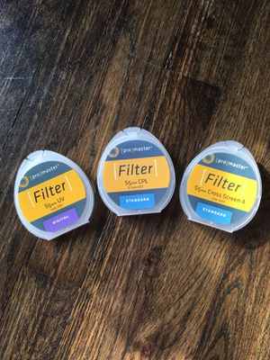 55/58 mm camera lens filters for Sale in Monroeville, PA