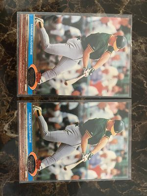 Mark McGwire Baseball Cards (2) for Sale in El Paso, TX