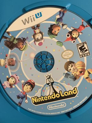 Nintendo land Wii U game disc for Sale in American Canyon, CA