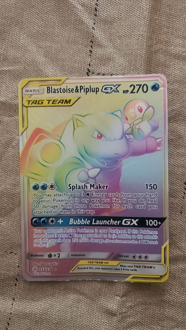 Blastoise and piplup tag team rainbow GX