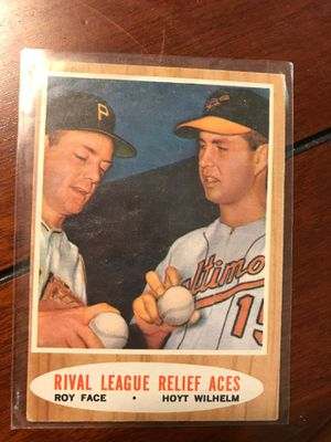 1962 Topps #423 Roy Face/Hoyt Wilhelm Rival League Relief Aces baseball ⚾️ card! for Sale in Hickory, NC