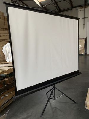 84-inch projector screen with stand for Sale in Ontario, CA