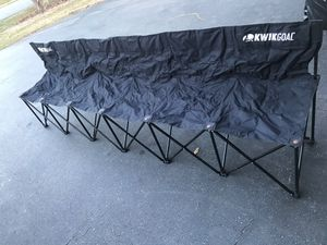 Kwikgoal 6 seat team bench for Sale in Silver Spring, MD