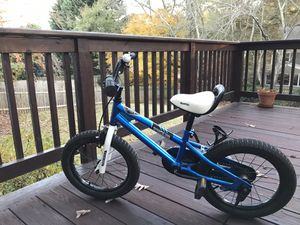"""Royal Baby"" (brand) Kids Bike (with training wheels) for Sale in Marietta, GA"