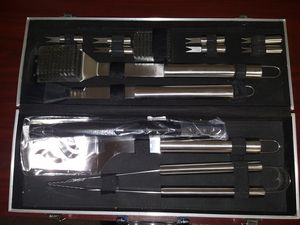BBQ Grill Tools Set-Heavy Duty Stainless Steel with Aluminum Storage for Sale in Detroit, MI