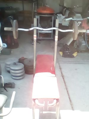 Weight bench and weights and exercise bike for Sale in El Mirage, CA
