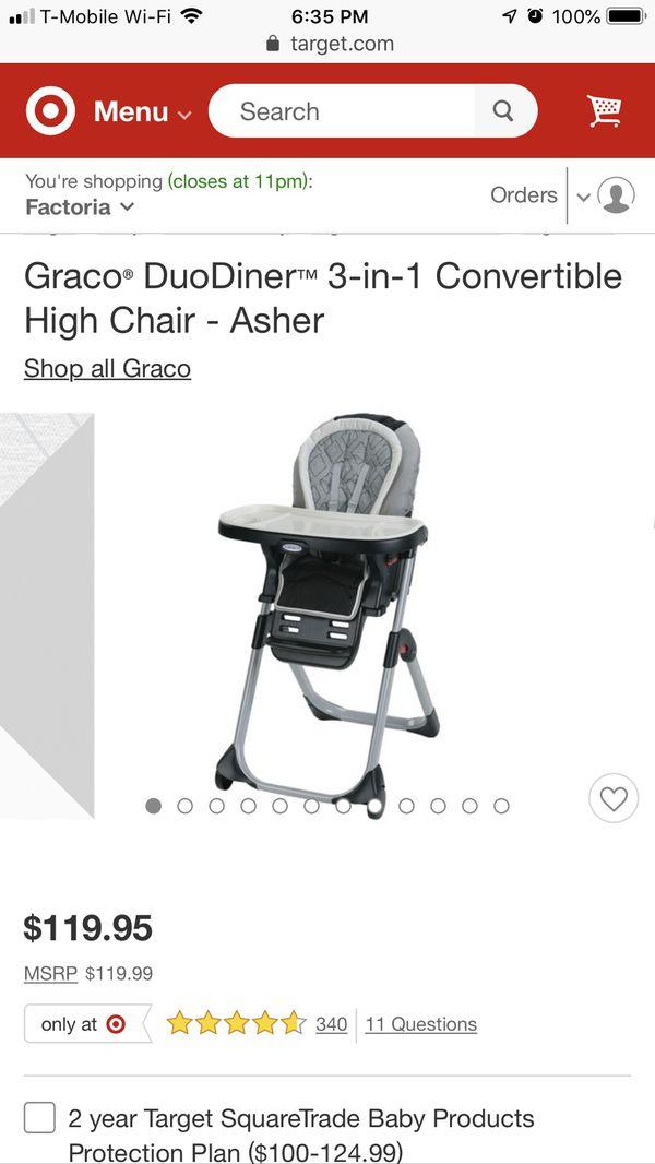 3-1 Graco high chair