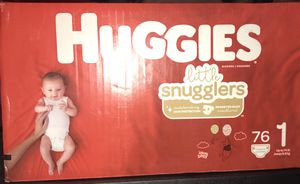 Huggies snugglers Size 1 76 ct. $20 for Sale in Miami, FL