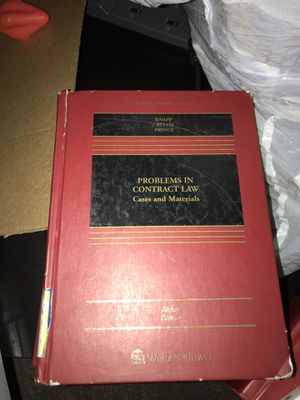 Problems in Contract Law: wolters kluwar eighth edition for Sale in Chicago, IL