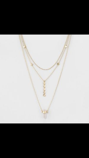 Gold multi chain necklace for Sale in NJ, US