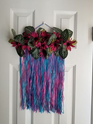 Floral yarn wall art for Sale in Chapel Hill, NC
