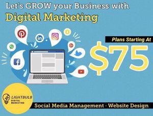 Social Media Management and Website Design for Sale in Kissimmee, FL