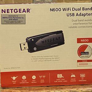 NETGEAR N600 WiFi Dual Band USB Adapter for Sale in Puyallup, WA