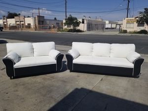 NEW WHITE LEATHER COMBO COUCHES for Sale in San Fernando, CA