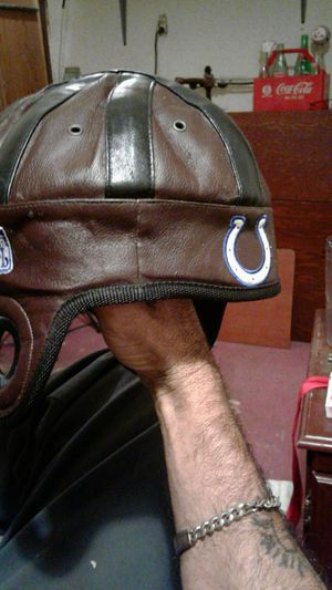 Leather colts helmet for Sale in Evansville, IN
