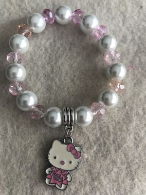Beautiful hello kitty charm bracelet hand made! for Sale in Miami, FL