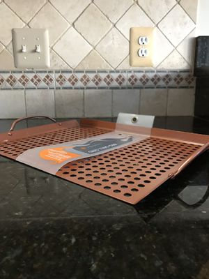 Outset Copper Non-Stick Large Grill Grid with Handles for Sale in NO POTOMAC, MD