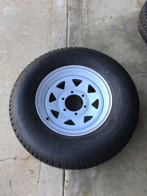Supercargo 225/75r15 spare tire and wheel. 6x5.5 brand new never used for Sale in Norco, CA