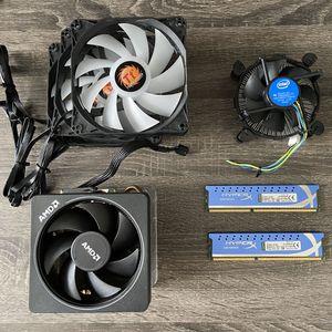 Gaming PC parts: AMD fan, Hyperx ddr3, Intel fan, Thermaltake for Sale in Medley, FL